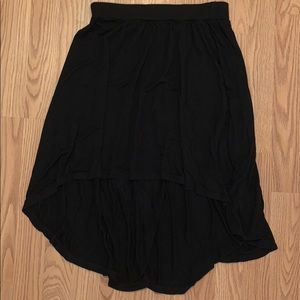 Charlotte Rouse small black high to low skirt